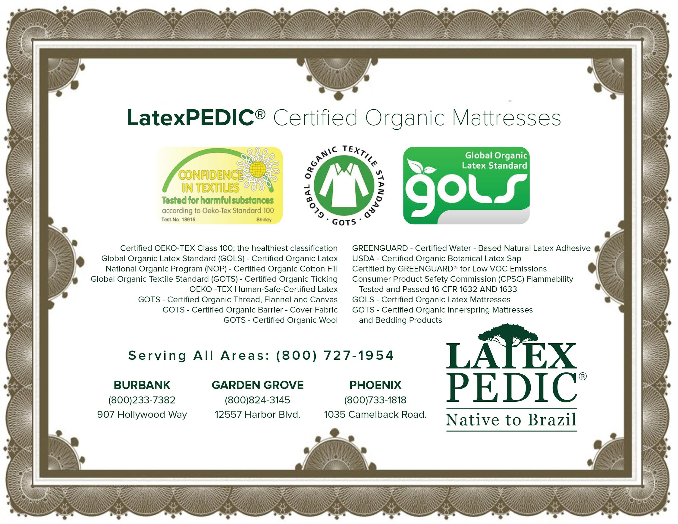 certified organic beds