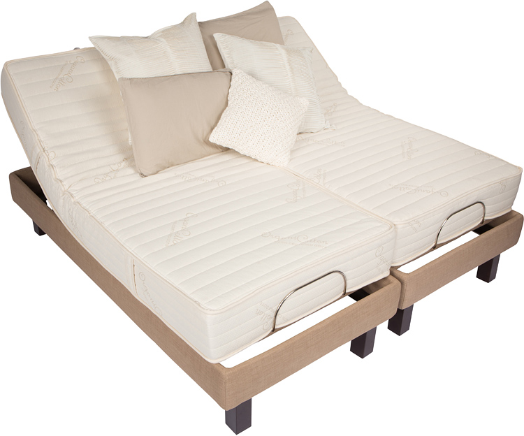 electric adjustable beds latexpedic certified organic cotton and wool latex mattress