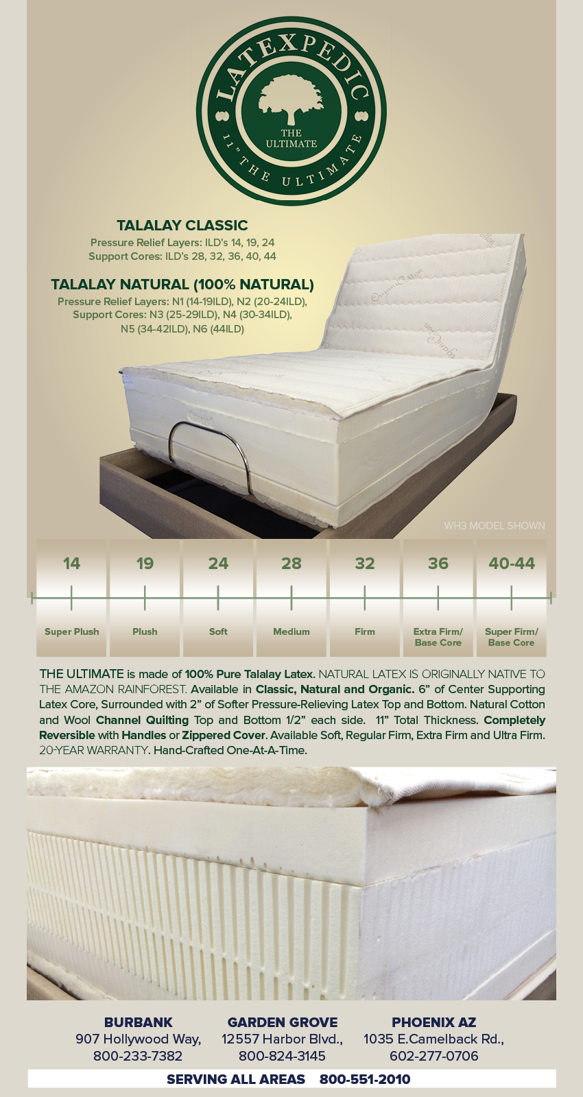 Natural Mattresses Dana Point,  Fountain Valley,  Fullerton,  Garden Grove, Huntington Beach