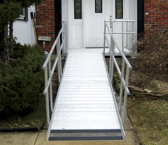Wheelchair ramp handicapped ramps for Prefab wheelchair ramp