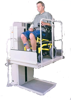 Pride Jazzy Electric Wheelchair Macs Lift Porch Lift PL-50 Phoenix AZ Vertical Platform Lift VPL-3100