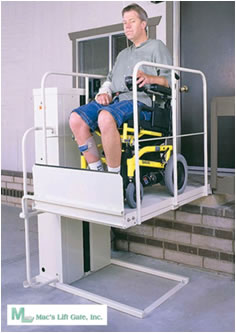 macslift pl50 pl72 wheel chair porch lift accessibility ada phoenix az vertical platform wheelchair lifts