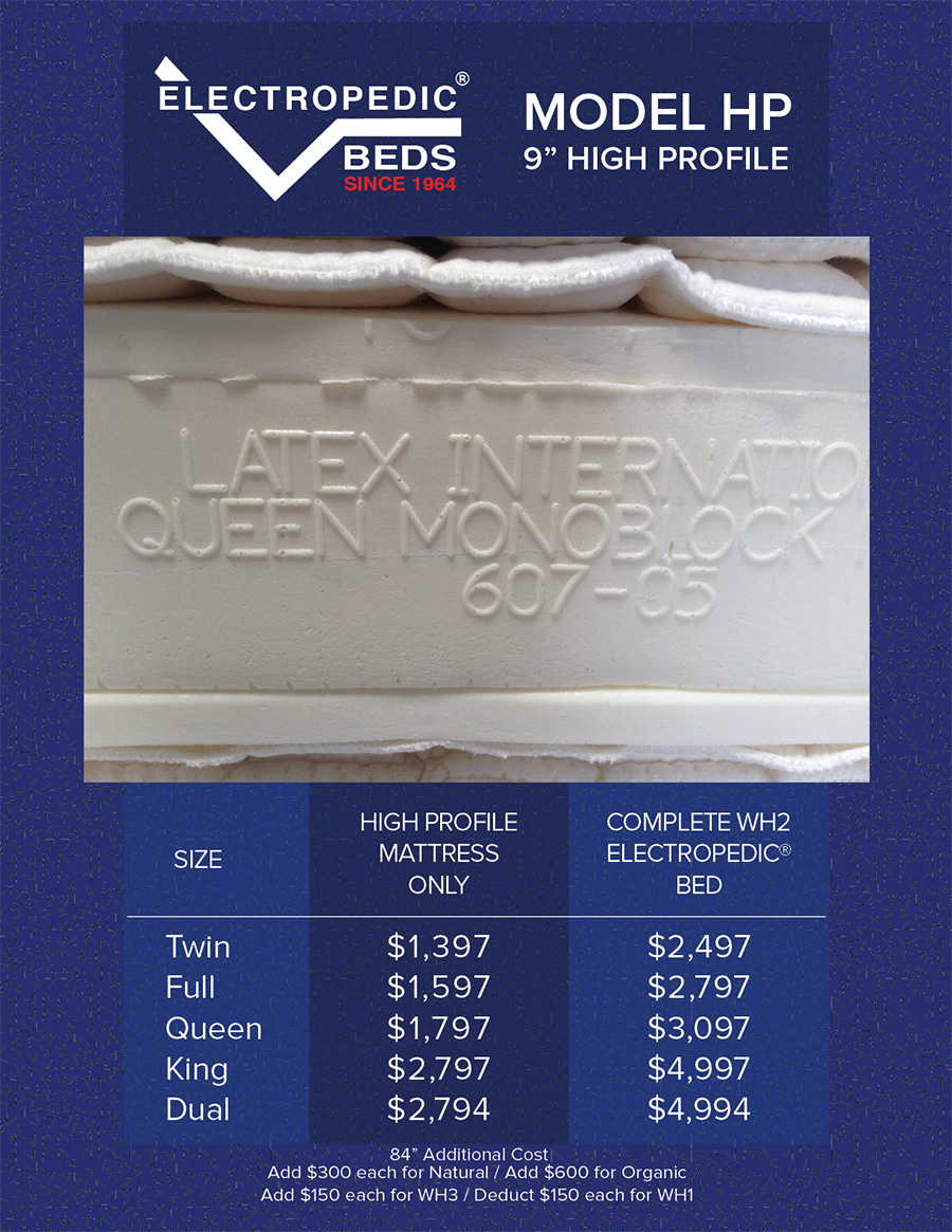 High Profile 9quot; Latex Mattress