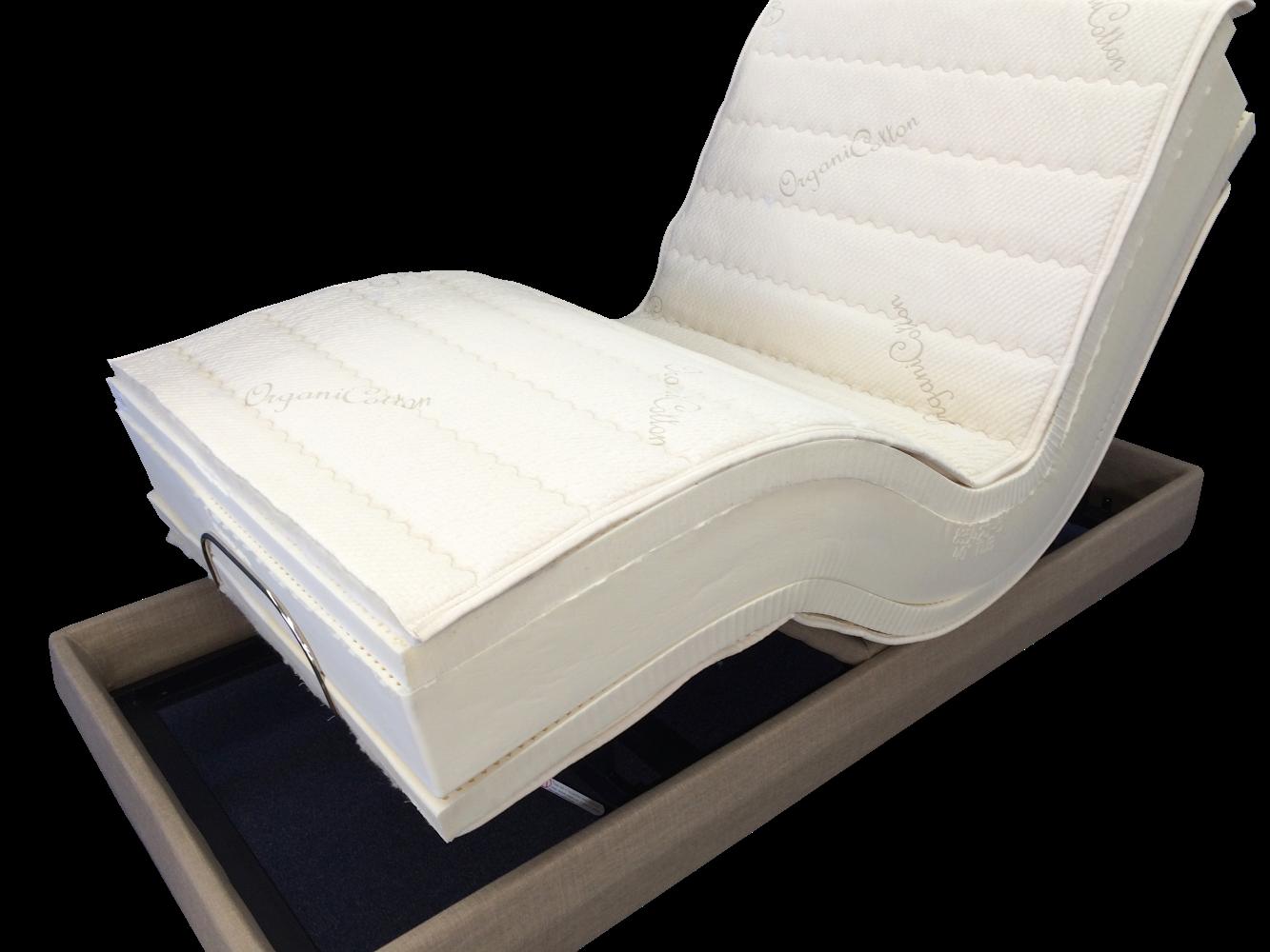 natural mattress latex adjustable bed organic foam talalay