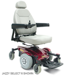 Select 6 Pride Jazzy Electric Wheelchair Powerchair phoenix az scottsdale sun city tempe mesa are glendale chandler peoria gilbert chandler surprise  . Motorized Battery Powered Senior Elderly Mobility