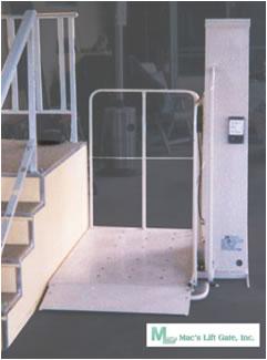 home chair elevator. mac\u0027s pl-50 w/ 90 degree exit platform wheelchair elevator lift home chair