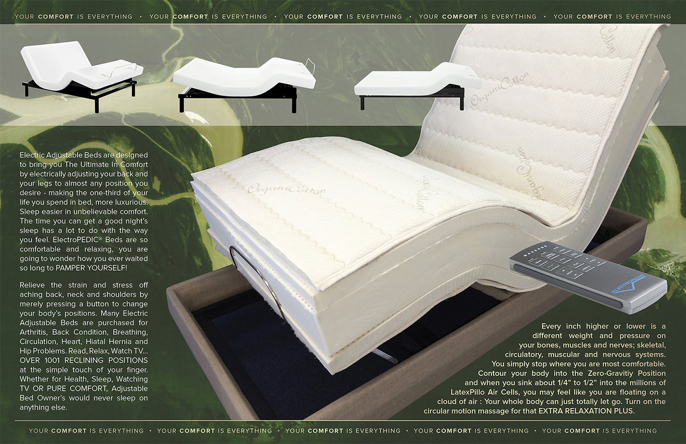 natural mattress latex adjustable bed organic foam talalay